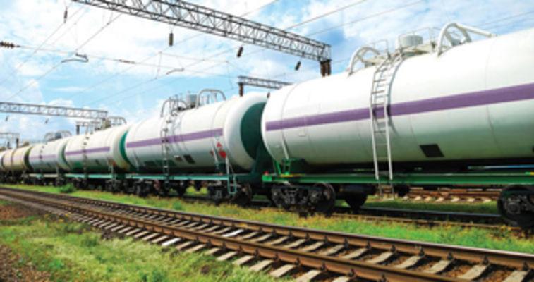 train holding flammable liquid