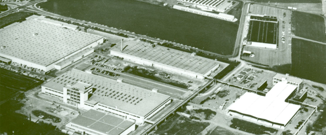 Weiterstadt plant aerial view from 1970