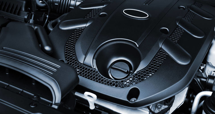 view of automotive engine
