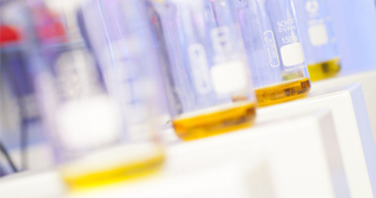 small samples of oil in vials